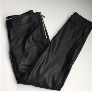 Michael Kors faux leather pants with side zipper